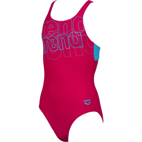 arena Spotlight Swim Pro Back One Piece Badpak Meisjes, freak rose/turquoise